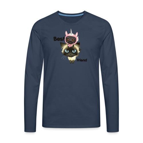 Best friend by BrightSoull. - Premium langermet T-skjorte for menn