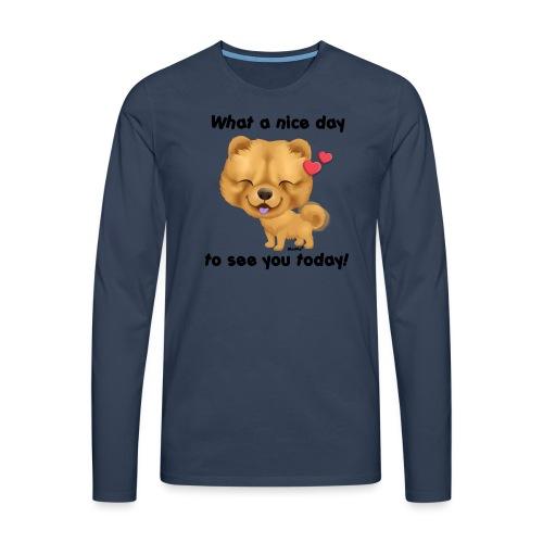 Miły dzień przez Niszczacy - Koszulka męska Premium z długim rękawem