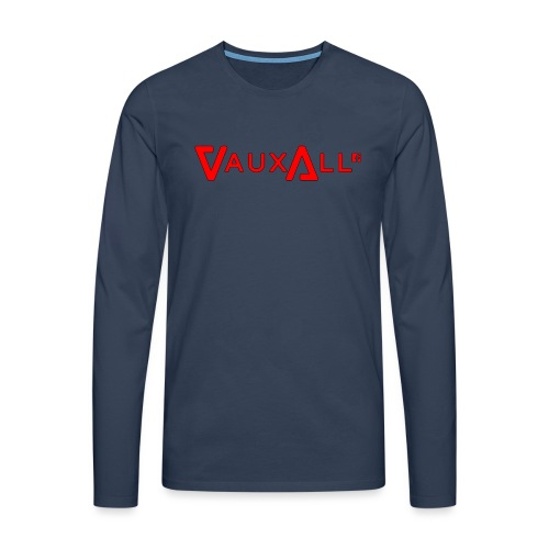 VauxAll Logo | Red | Original - Men's Premium Longsleeve Shirt