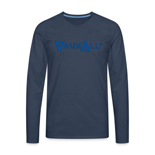 VauxAll Logo | Blue | Original - Men's Premium Longsleeve Shirt