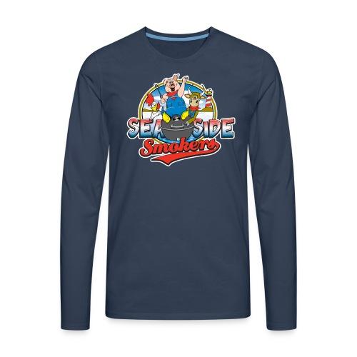 SSSlogoshirtdarkback png - Mannen Premium shirt met lange mouwen