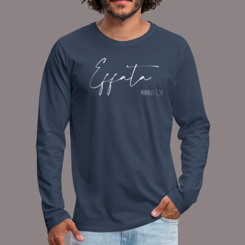 effata weiss - Männer Premium Langarmshirt