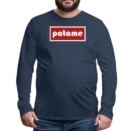 patame Logo - Männer Premium Langarmshirt