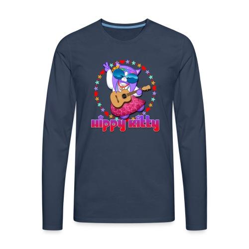 Hippy Kitty - Maglietta Premium a manica lunga da uomo