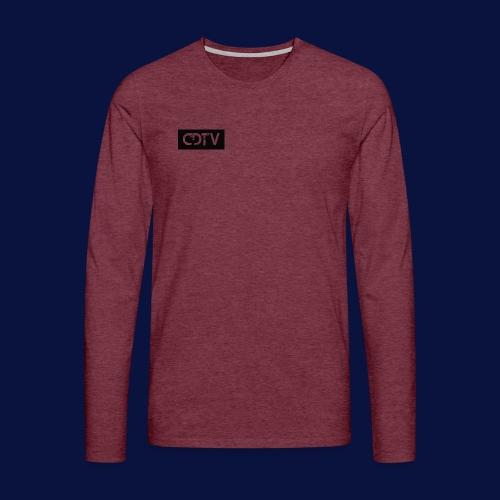 CDTV Box Logo - Men's Premium Longsleeve Shirt