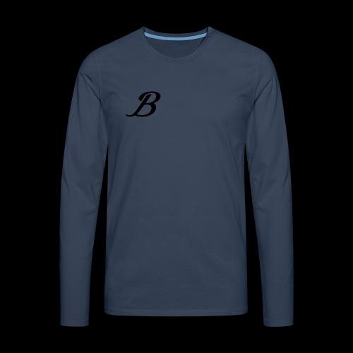 B - Herre premium T-shirt med lange ærmer