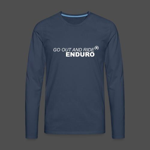 wyjdź i jedź enduro bk - Koszulka męska Premium z długim rękawem