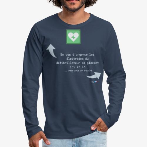 Défibrillateur - T-shirt manches longues Premium Homme