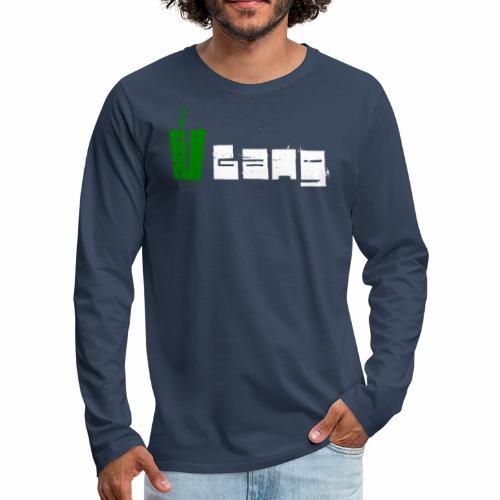 V Gang Vegan Vegetarier Lifestyle Shirt T-Shirt - Männer Premium Langarmshirt