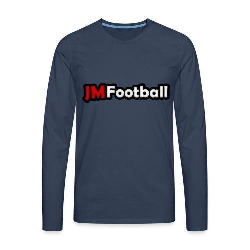 JMFootball Text Logo Top - Men's Premium Longsleeve Shirt