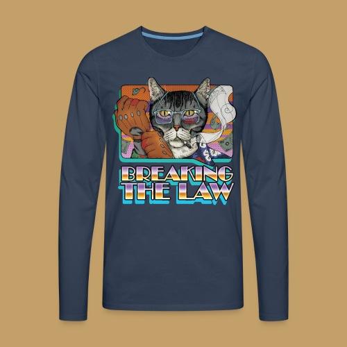Crime Cat- Breaking the Law - Koszulka męska Premium z długim rękawem