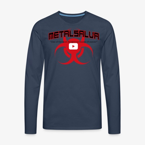 METALSALVA Cancer #1 - Maglietta Premium a manica lunga da uomo