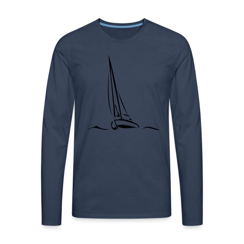 Segelboot - Männer Premium Langarmshirt
