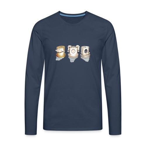see no evil ver.0.3 Rasmus Balstrøm - Herre premium T-shirt med lange ærmer