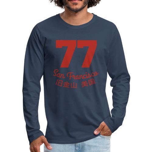 77 san francisco usa - Männer Premium Langarmshirt