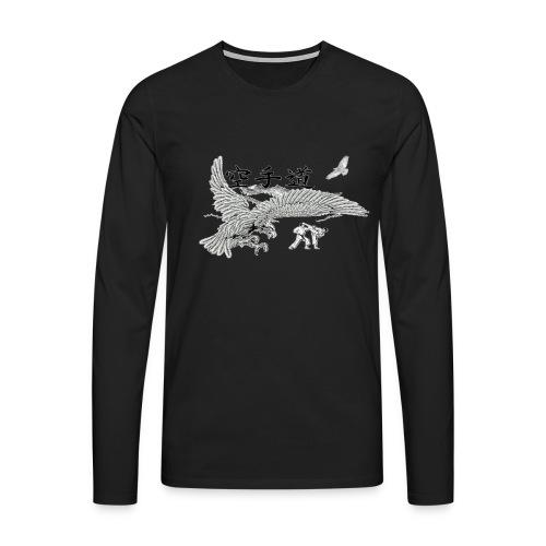 design karateaigle3 gif - T-shirt manches longues Premium Homme
