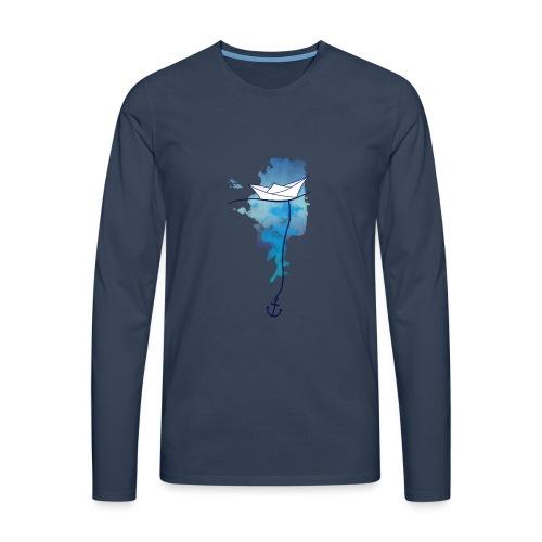 Papierschiff - Männer Premium Langarmshirt