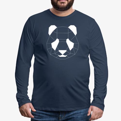 Panda Geometrisch weiss - Männer Premium Langarmshirt