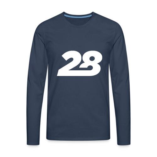 28 White - Men's Premium Longsleeve Shirt