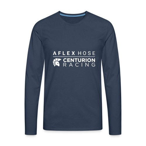 Aflex Hose Centurion Racing Logo White - Men's Premium Longsleeve Shirt