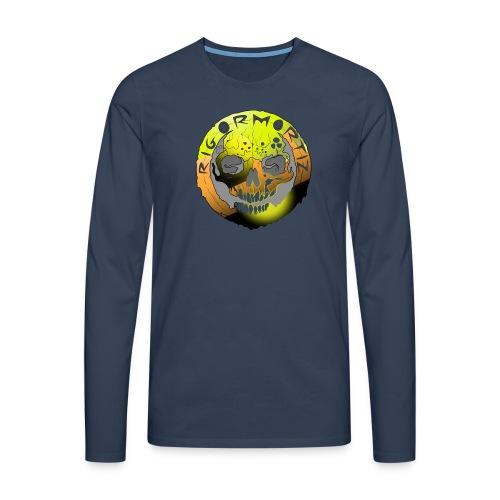 Rigormortiz Metallic Yellow Orange Design - Men's Premium Longsleeve Shirt