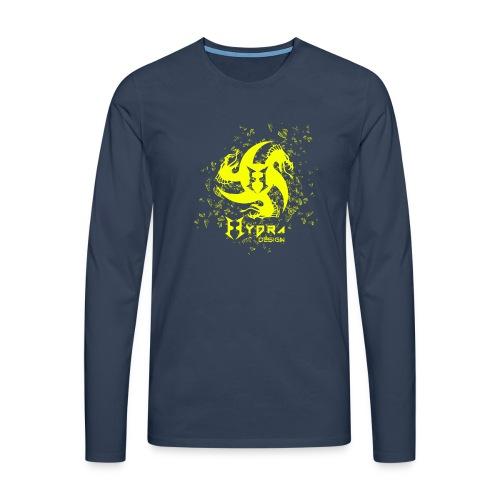 Hydra Design - logo glass explosion - Maglietta Premium a manica lunga da uomo
