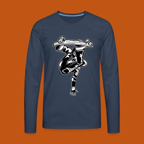 Skater / Skateboarder 03_schwarz weiß - Männer Premium Langarmshirt