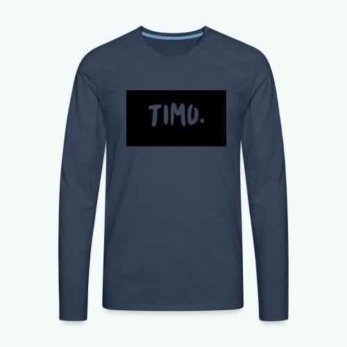 Ontwerp - Mannen Premium shirt met lange mouwen