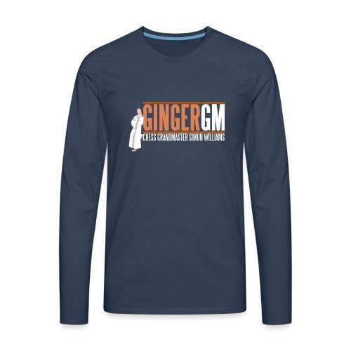 Ginger GM White Logo - Men's Premium Longsleeve Shirt