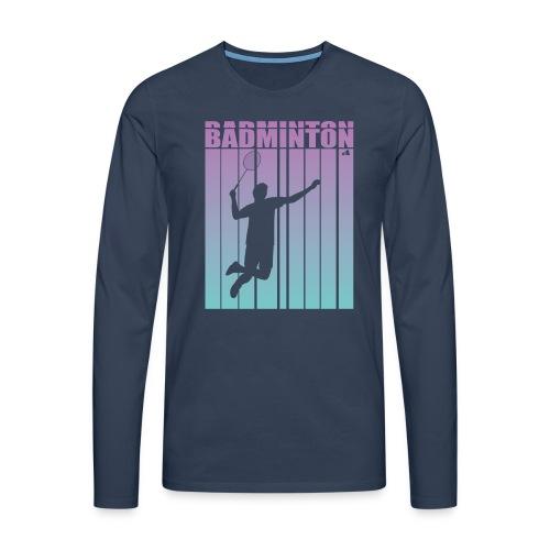 Badminton Jump Smash - Men's Premium Longsleeve Shirt