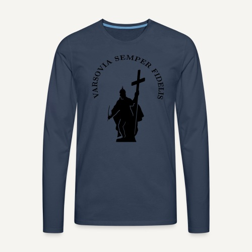 varsoviasf - Koszulka męska Premium z długim rękawem