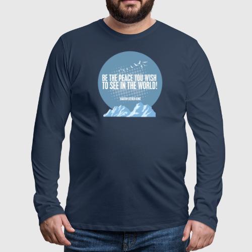 MLK2 png - Herre premium T-shirt med lange ærmer