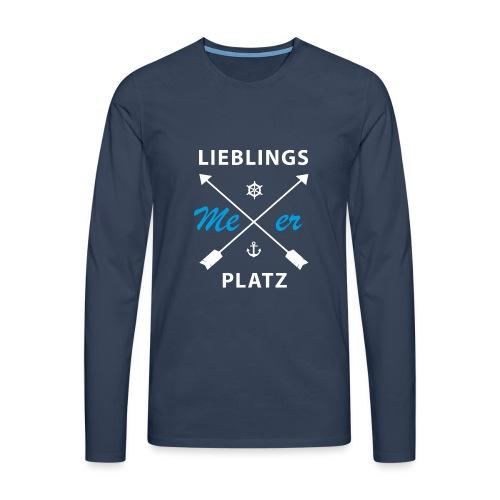 Lieblingsplatz Meer - Männer Premium Langarmshirt