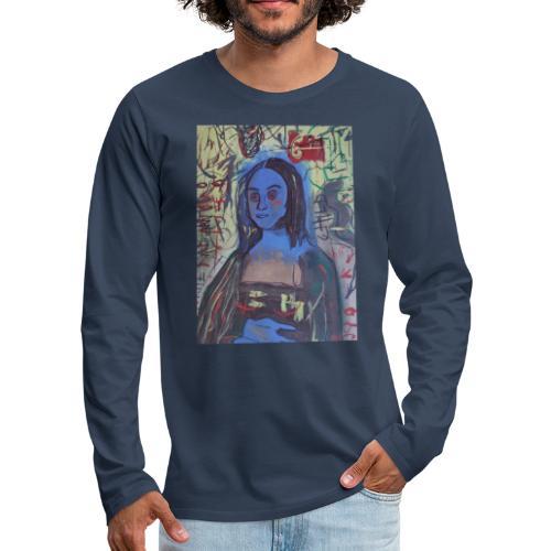 Gioconda omaggio Basquiat - Maglietta Premium a manica lunga da uomo