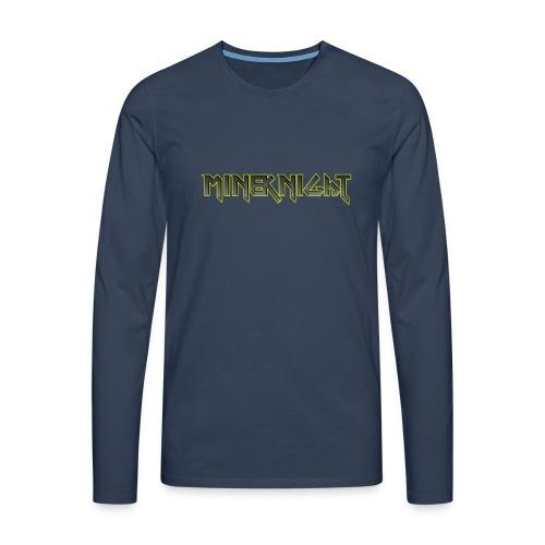 MineKnight T-shirt - Långärmad premium-T-shirt herr