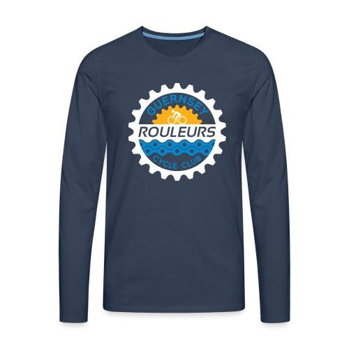 Guernsey Rouleurs Logo Reversed - Men's Premium Longsleeve Shirt