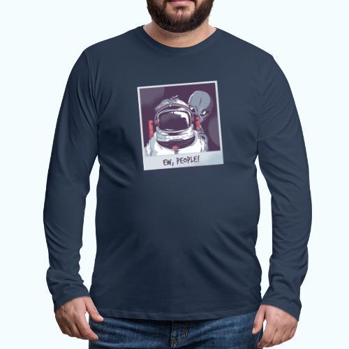 Aliens and astronaut - Men's Premium Longsleeve Shirt