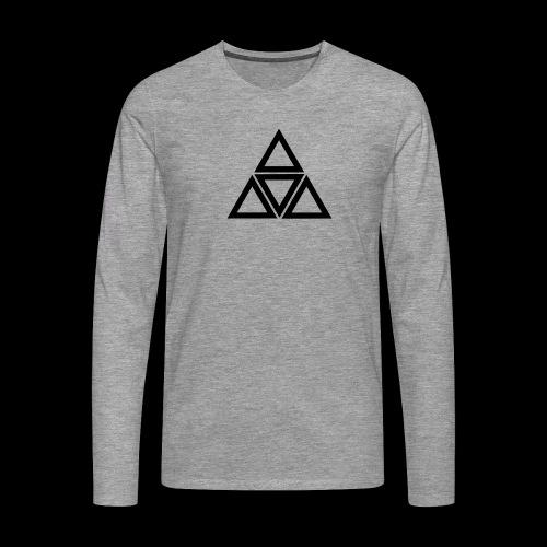 triangle - Maglietta Premium a manica lunga da uomo