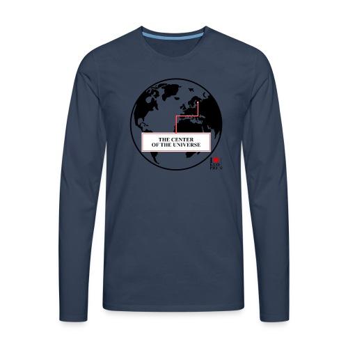 THE CENTER OF THE UNIVERSE - Miesten premium pitkähihainen t-paita