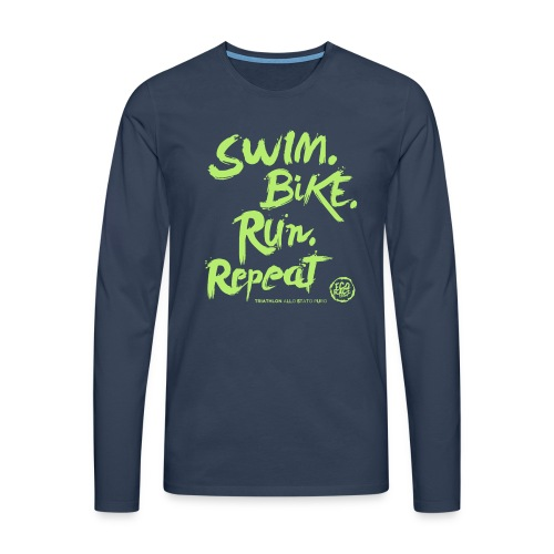 Swim. Bike. Run. Repeat - Maglietta Premium a manica lunga da uomo