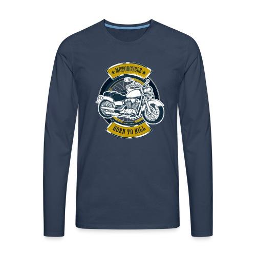 Motorcycle5 - Camiseta de manga larga premium hombre