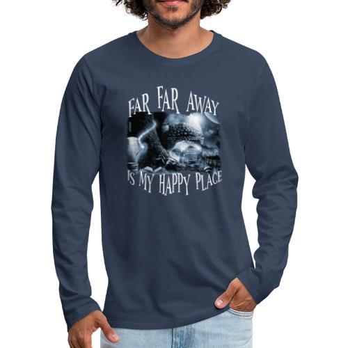My Happy Place - Black & White - Mannen Premium shirt met lange mouwen