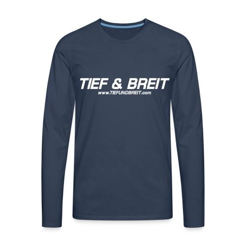 Tief & Breit Logo vector - Männer Premium Langarmshirt