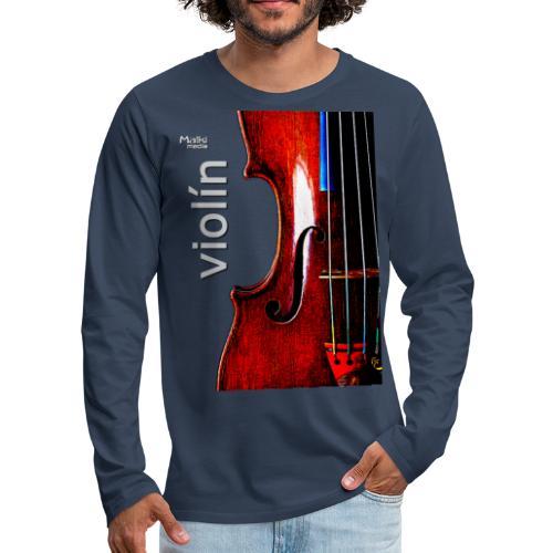 Violín I - T-shirt manches longues Premium Homme