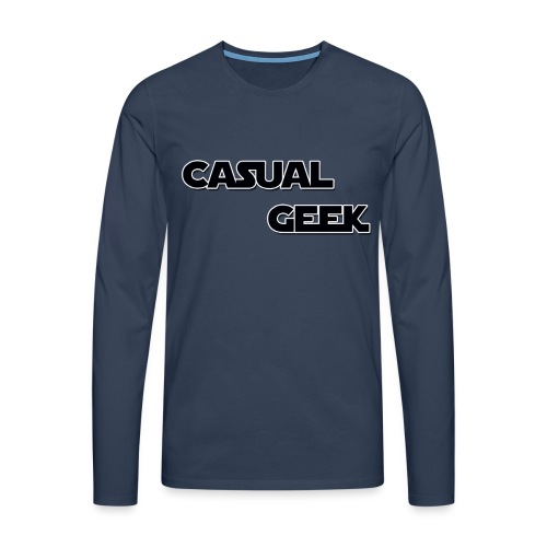 CasualGeek Standard Logo - Men's Premium Longsleeve Shirt