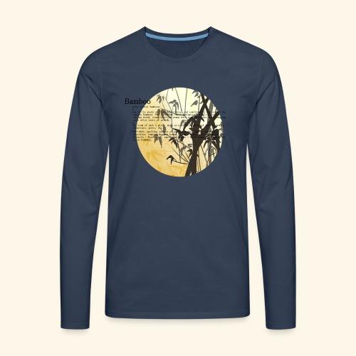 Bamboo - Långärmad premium-T-shirt herr