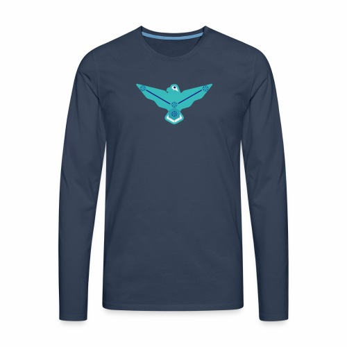 the nordic eagle merch - Premium langermet T-skjorte for menn