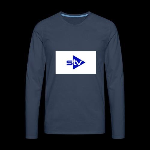 Skirä television - Långärmad premium-T-shirt herr