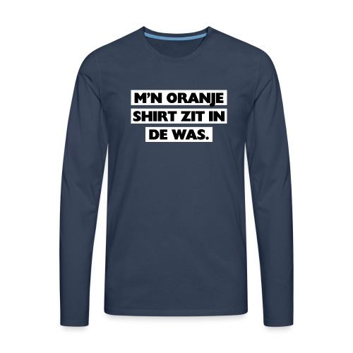In de was - Mannen Premium shirt met lange mouwen