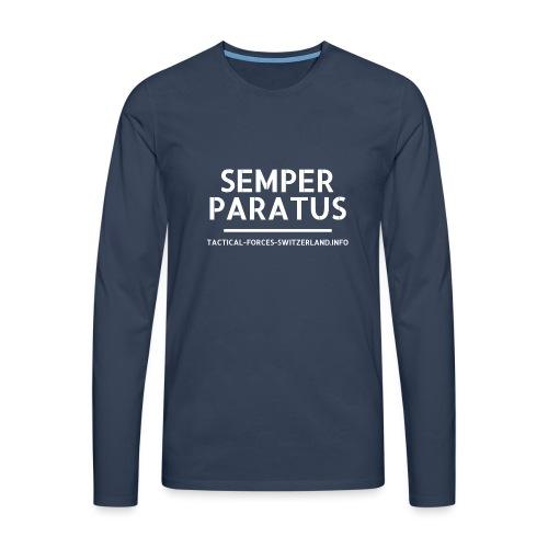 Semper Paratus blanc - T-shirt manches longues Premium Homme